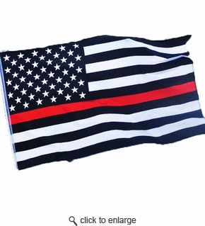 3x5 ft USA Thin Red Line Super Poly Flag