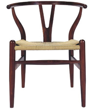 Shop alban danish modern dining chair with rattan seat for Modern rattan dining chairs