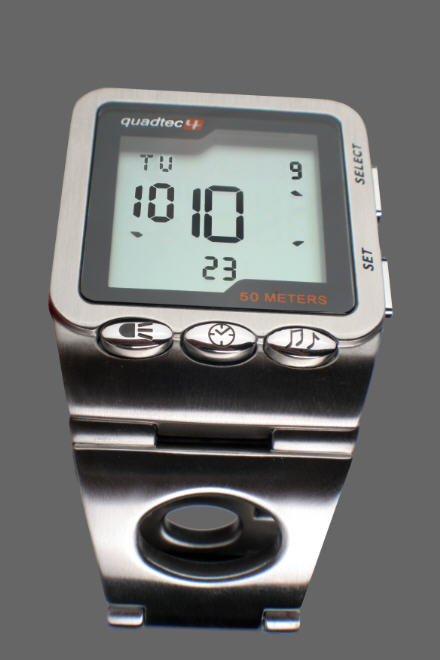 Albert Brodmann Quadtec Shifting Time Digital Watch by Equitime - Click to enlarge