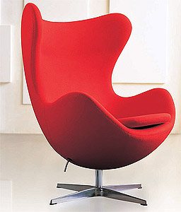 Wunderbar Arne Jacobsen Egg Chair Wool 10 Color Choices! Leather 16 Color Choices!