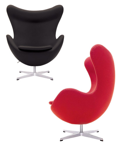 Arne Jacobsen Egg Chair   Wool 10 Color Choices! Leather 16 Color Choices!