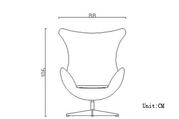 shop arne jacobsen egg chair wool 10 color choices leather 16