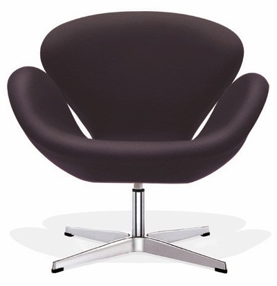 Arne Jacobsen Swan Chair   Wool  10 Color Choices! Leather 16 Color Choices