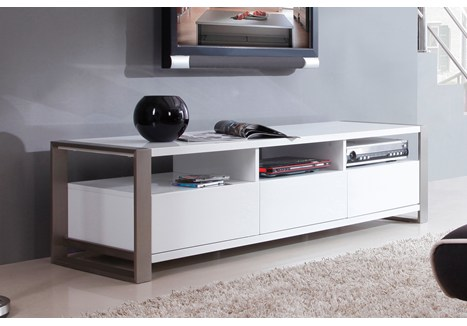 b modern stylist 63 high gloss white tv stand bm 110 wht. Black Bedroom Furniture Sets. Home Design Ideas