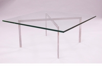 "Barcelona Coffee Table 1/2"" Glass"