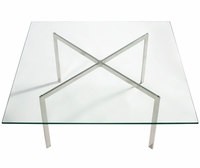 "Barcelona Coffee Table 3/4"" Glass"