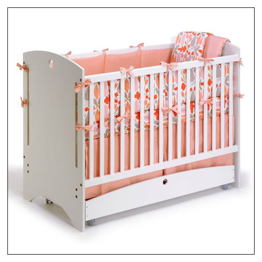 Bebe 2 Crib By Offi   All White