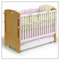 Bebe 2 Crib by Offi - Natural Ply + White