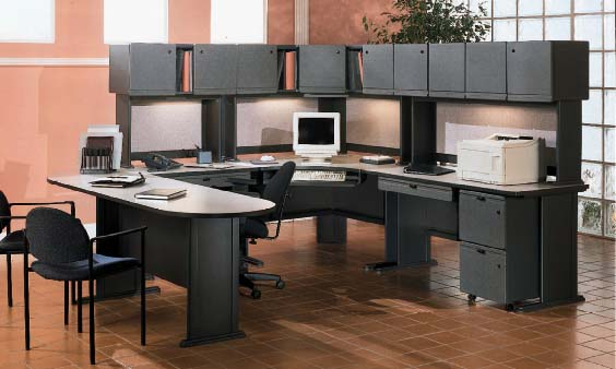 Genial BUSH OFFICE ADVANTAGE II COMPUTER FURNITURE   Click To Enlarge