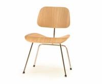 Classic Bent Plywood Dining Chair with Metal Legs
