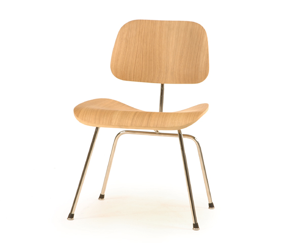 Shop Eames Style Bent Plywood Dining Chair with Metal Legs for