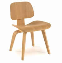 Classic Bent Plywood Dining Chair with Wooden Legs