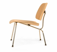 Classic Bent Plywood Lounge Chair with Metal Legs