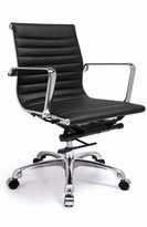 Classic Style Leatherette Low Back Team Office Chair