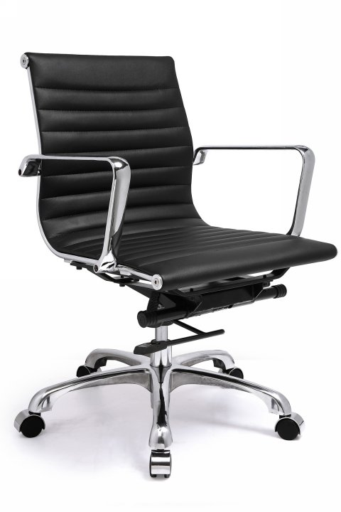 Classic Style Leatherette Low Back Team Office Chair - Click to enlarge