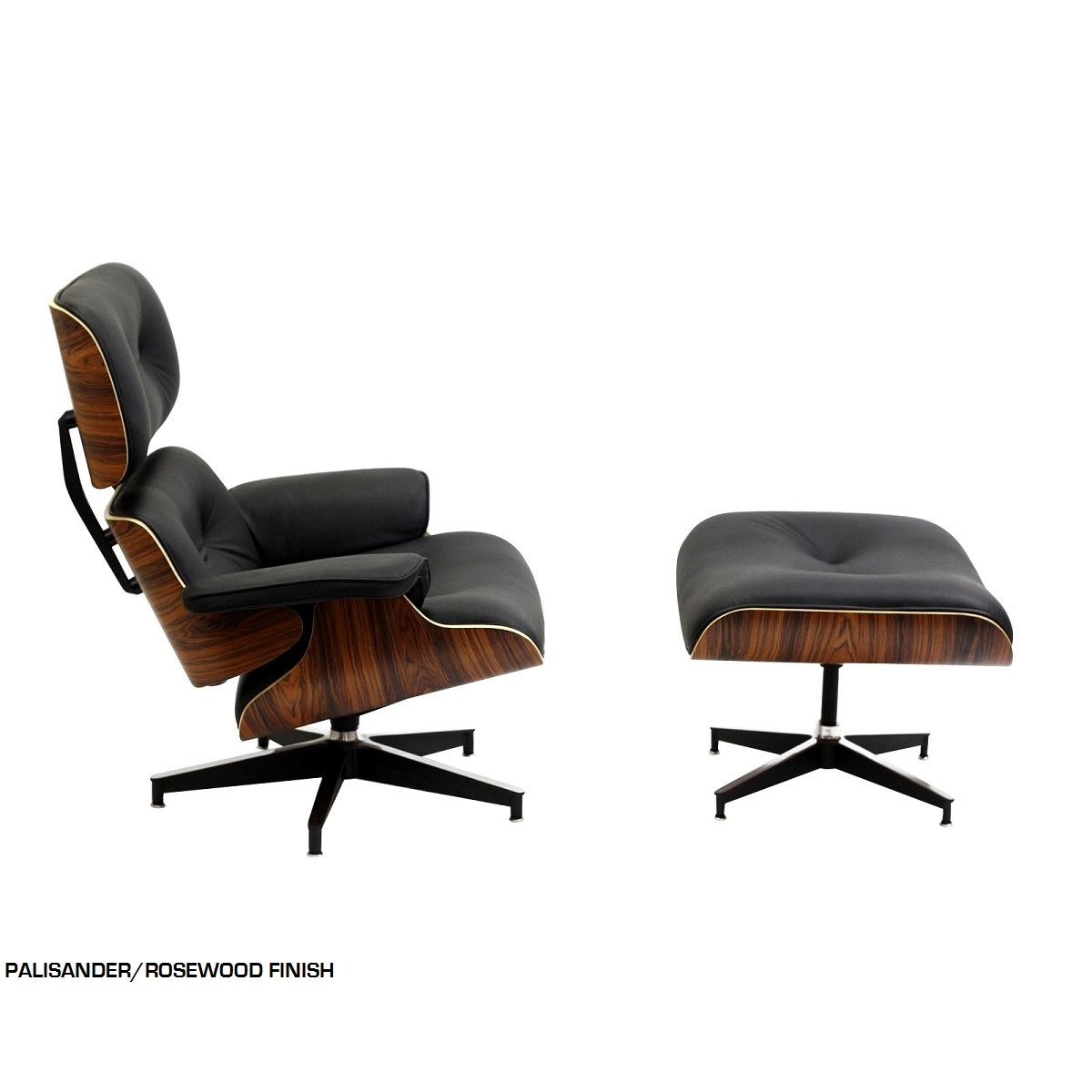 Eames classic style mid century lounge chair ottoman set