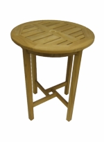 Diamond Teak Cantina Round Bar Table