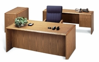 Double Pedestal Desk - Shown with optional items (extra cost)