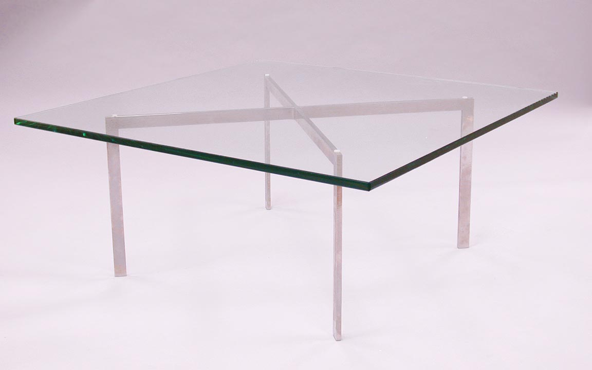 Shop mies exposition coffee table 1 2 glass for only for Design table replica