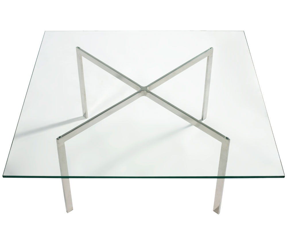 """Barcelona Coffee Table 3/4"""" Glass - Click to enlarge"""