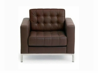 """Florence Knoll 35"""" Leather Chair"""
