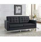 """Florence Knoll Leather 65"""" Loveseat"""