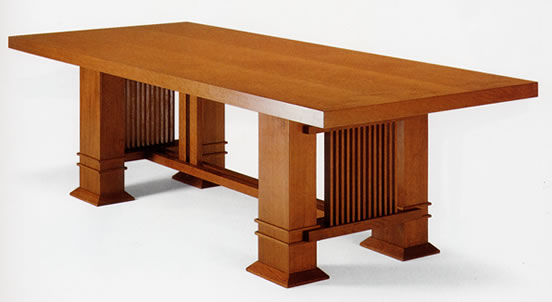 Frank Lloyd Wright Allen Table Rectangular 1917 On In Stock Quick Ship
