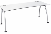 Illusion 300 Straight Desk w/ Metal Legs by Dams