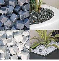 Kubiko Marble Cubes - Flower Pot Soil Topper by Vondom