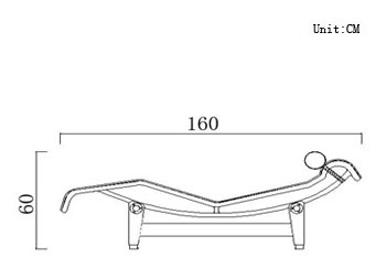 Shop lc4 le corbusier chaise lounge for only 790 for Dimension chaise longue
