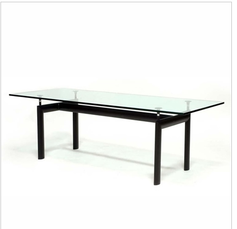 le corbusier dining table lc10 lc6 white tab style
