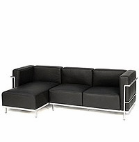 Le Corbusier Grande Sectional with Left Facing Chaise