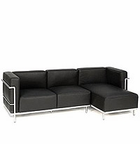 Le Corbusier Grande Sectional with Right Facing Chaise