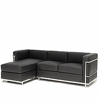 Le Corbusier Petit Sectional with Left Facing Chaise