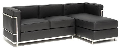 shop le corbusier petit sectional with right facing chaise for only 2499. Black Bedroom Furniture Sets. Home Design Ideas
