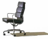 Leather Eames Classic Style  High Back  Executive Chair