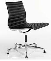 Leather Eames Classic Style Management Armless Conference & Side Chair