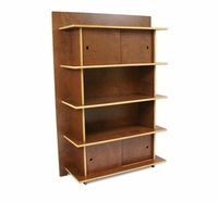 Linear Bookcase / Storage Unit w/ Doors by InModern