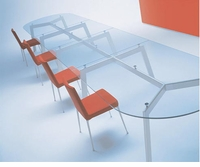 Link Glass Top Racetrack Conference Tables