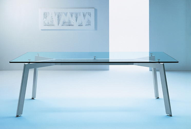 Link Glass Top Rectangular Conference Tables