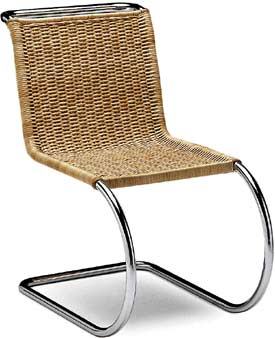 Buy ludwig mies van der rohe sedia chair mr braided wick - Mies van der rohe sedia ...