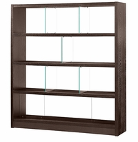 Madera Cubo Bookcase with Divided Shelves
