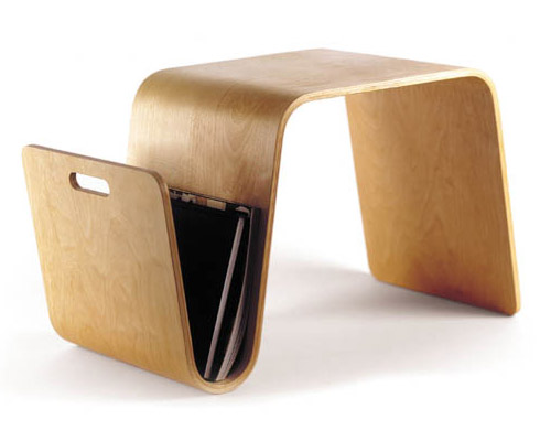 Mag Table   Magazine Holder End Table / Stool By Eric Pfeiffer   Click To  Enlarge