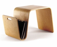 Mag Table - Magazine Holder End Table / Stool by Eric Pfeiffer