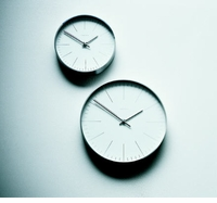 Max Bill Wall Clock, 30cm, with Lines