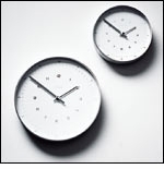 Max Bill Wall Clock, 30cm, with Numbers