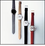 Max Bill Wrist Watch, Stainless Steel with Lines