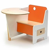 Mini-Drawer Doodle Desk for Kids / Nursery by Roberto Gil