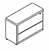OfficeSource 2 DRAWER LATERAL FILE, PL112