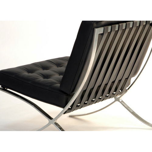shop barcelona chair by mies van der rohe italian leather. Black Bedroom Furniture Sets. Home Design Ideas